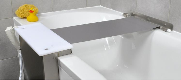perfekte Badehilfe - ein Sitztuchlift